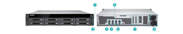 Descrição Técnica do storage TS-EC880U-RP 8 bay Storage 40TB