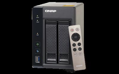 Embalagem TS-253A Qnap storage 2 baias NAS 4TB HDMI