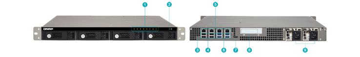Hardware de 4 bay storage NAS 16TB TVS-471U-RP Qnap