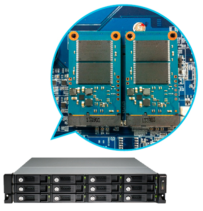 Portas Cache TVS-1271U-RP 12 bay storage 32TB