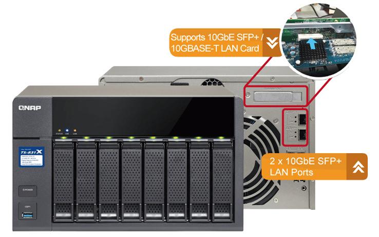 Storage Qnap preparado para rede 10GbE