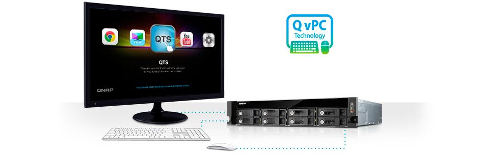 Tecnologia QvPC TVS-871U-RP Qnap Storage Rack 8HDs NAS 48TB