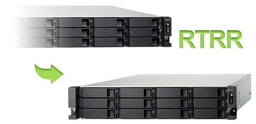 Replicação de dados TS-1263U Qnap Storage 12 Discos NAS Rackmount 96TB