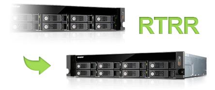 Replicação Remota em tempo real TVS-871U-RP Qnap Storage Rack 8HDs NAS 48TB
