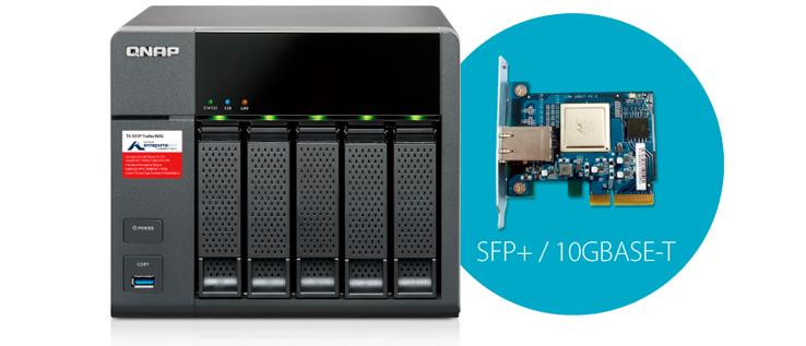 Conectividade 10GbE TS-531P Qnap