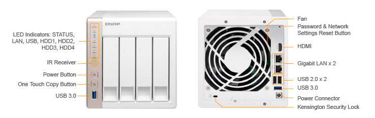 Storage NAS 20TB - QNAP TS-451 - Detalhes