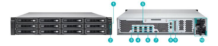 TS-EC1280U-RP-Storage 12 baias 72TB  - hardware
