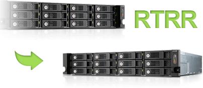 Replicação Remota em Tempo Real TVS-1271U-RP 12 bay storage 32TB