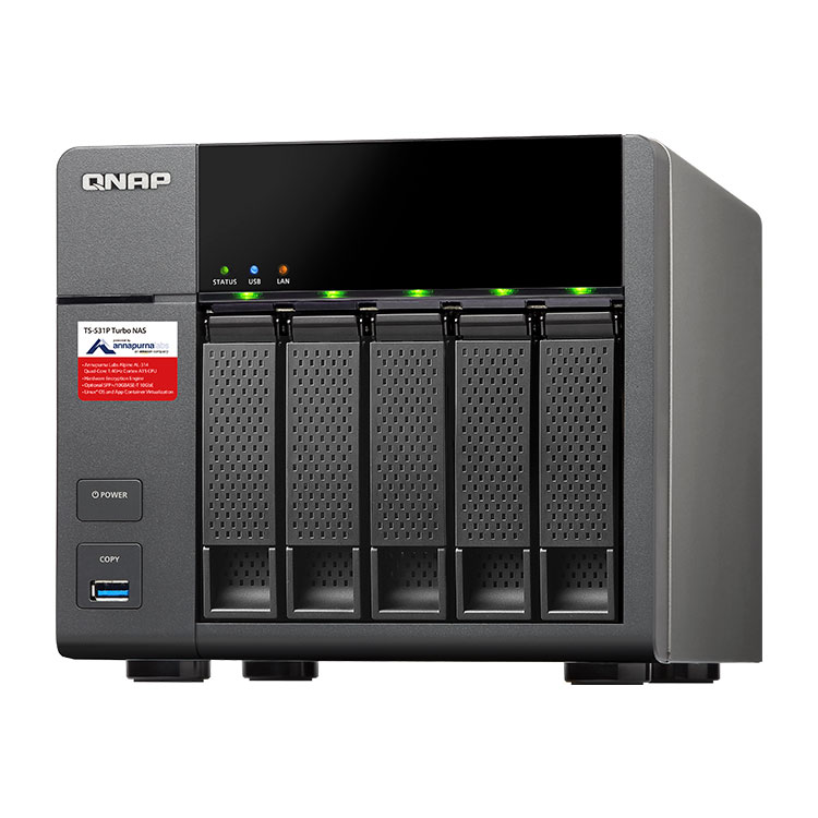 Ts 531p qnap storage 5 bay 15tb qnap brasil for Storage bay