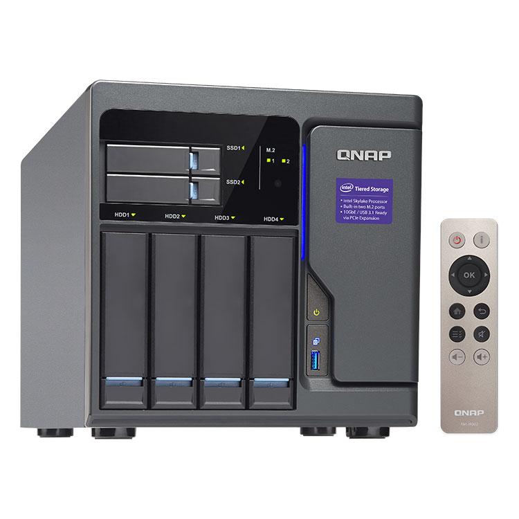TVS-682 Qnap Storage NAS 4 baias com Tiering