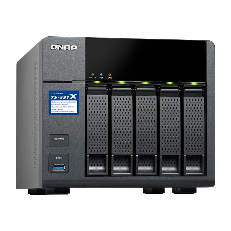 Qnap TS-531X - Storage NAS 5 Bay 50TB