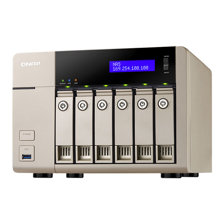 TVS-663 Qnap NAS 6TB com 6 baias expansível até 60TB SATA