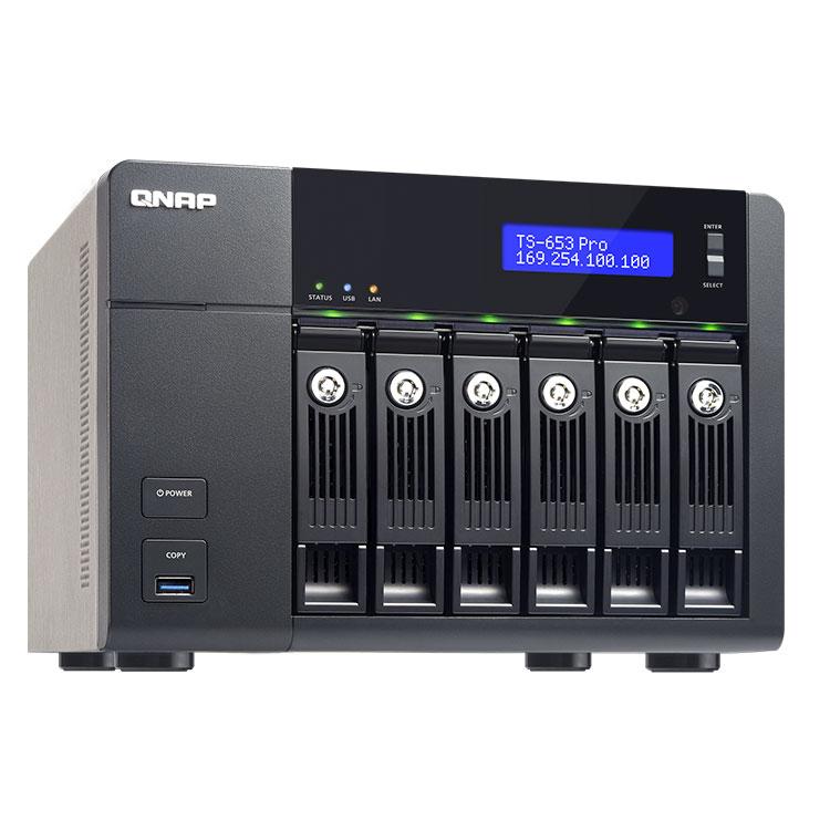 TS-653 Pro 6-Bay storage 48TB - NAS 6 Baias até 48TB Qnap