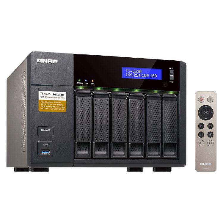 TS-653A Qnap - servidor de mídia 24TB HDMI