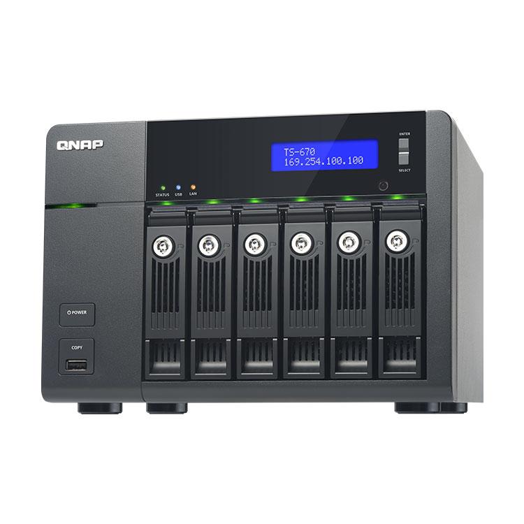 TS-670 Qnap - 6-bay Storage até 30TB Qnap