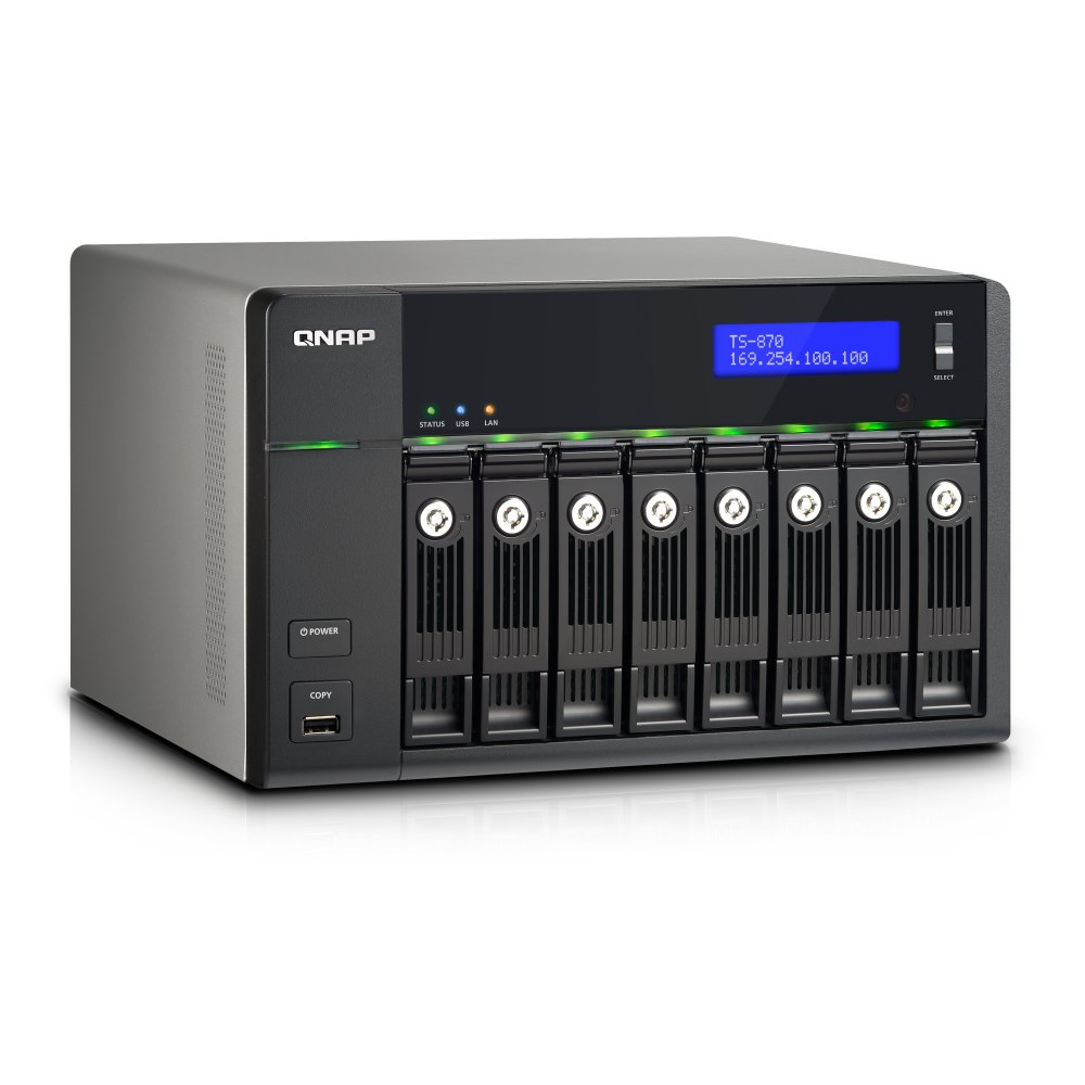 Ts 870 pro qnap storage nas 8 bay 32tb ts 870 pro for Storage bay