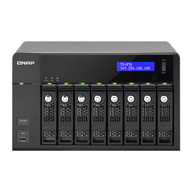TS-870 Qnap - 8-Bay Storage NAS - Storage 32TB 8 Baias