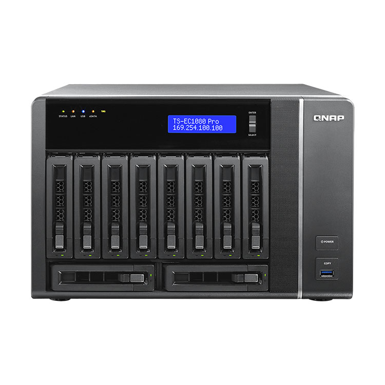 TS-EC1080 PRO Storage NAS 10 baias 60TB