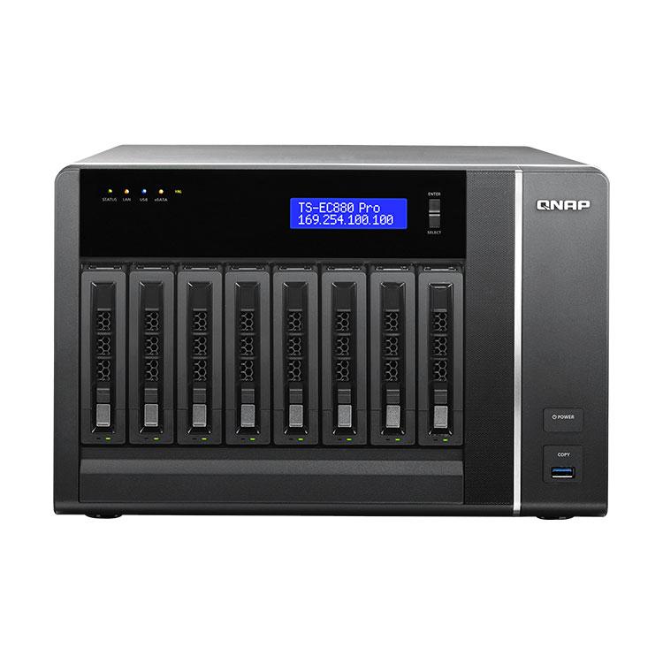 TS-EC880 PRO Storage NAS 8 baias 48TB