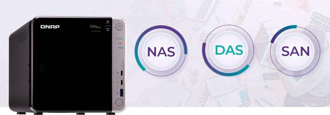 NAS, DAS e SAN – Storages e servidores estruturados para o armazenamento de dados