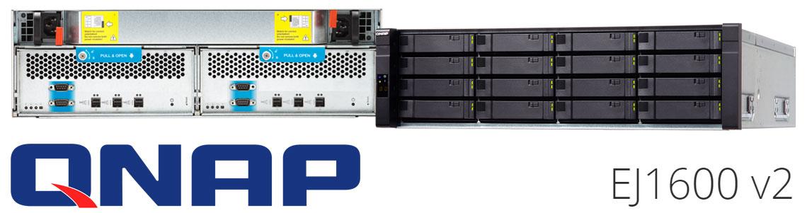 EJ1600 v2 Qnap JBOD SAS 12Gb/s para Enterprise ZFS