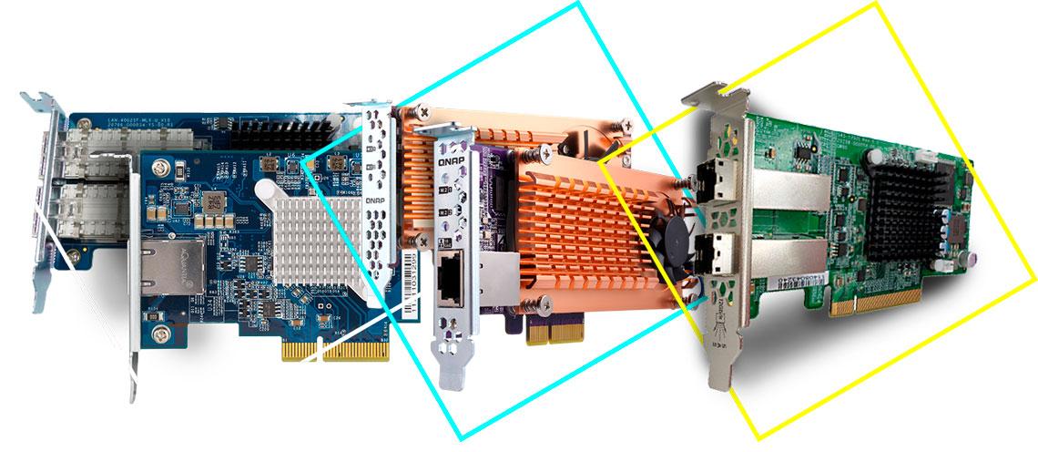 NAS e sua expansão de funcionalidades com placas PCIe