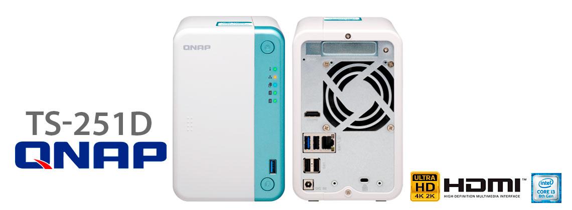 Qnap TS-251D, storage NAS multimídia com 2 baias e HDMI em 4K