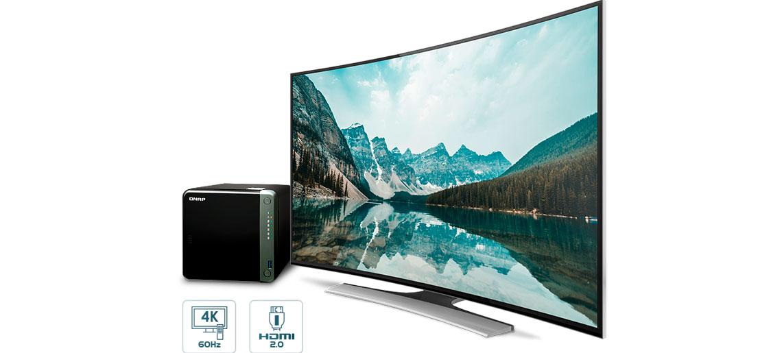 Exibição 4K via HDMI e transcodificação de vídeo ao vivo