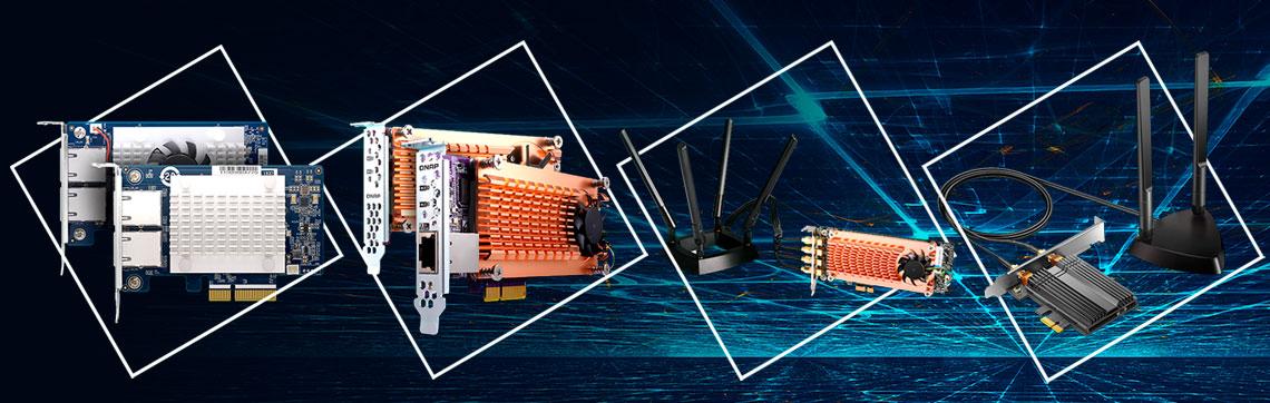 Expansão das funcionalidades do NAS com placa PCIe