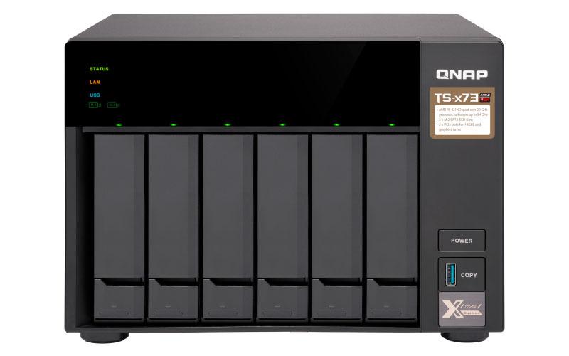 Qnap TS-673 - Storage NAS 6 Baias SATA Quad Core com PCIe