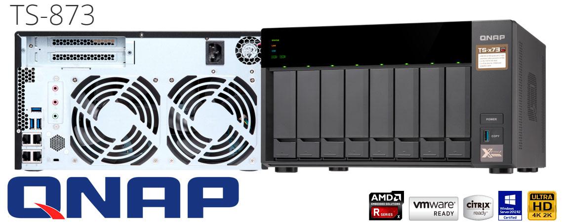 TS-873 Qnap, um NAS Storage 80TB ideal para compartilhamento em rede