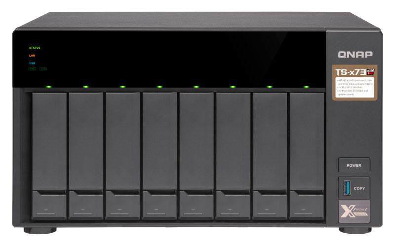 TS-873 Qnap - NAS Storage 80TB SATA e cache SSD