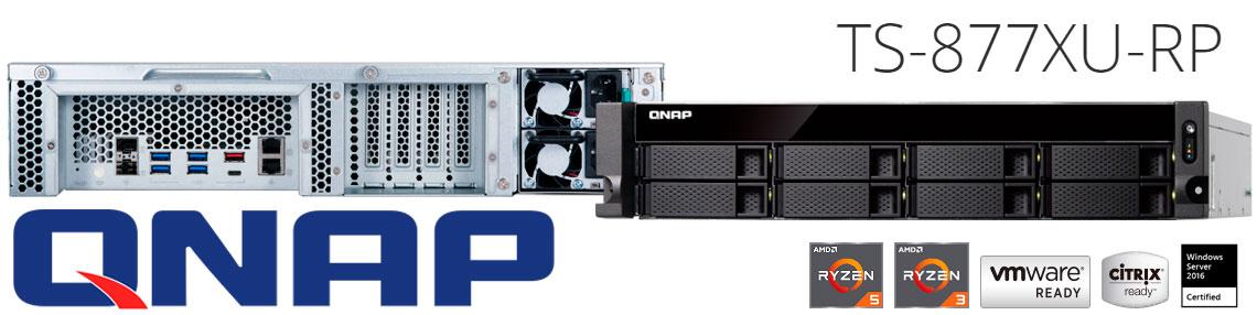 TS-877XU-RP Qnap, server NAS 64TB ideal para virtualização
