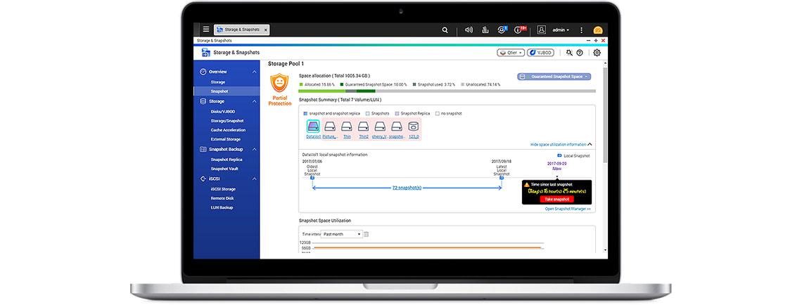 Tecnologia Snapshot para a proteção completa dos dados