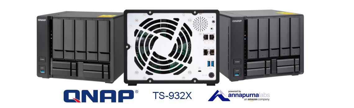 TS-932X 50TB - 9 baias para armazenamento seguro
