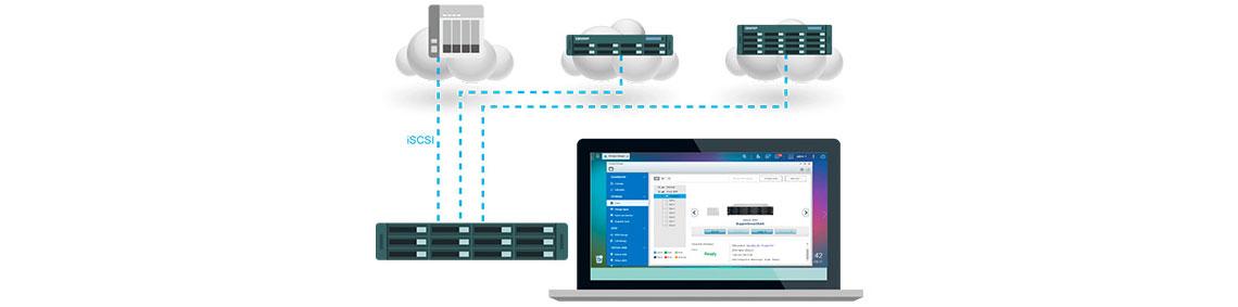 VJBOD, expanda capacidade de armazenamento usando outro storage Qnap
