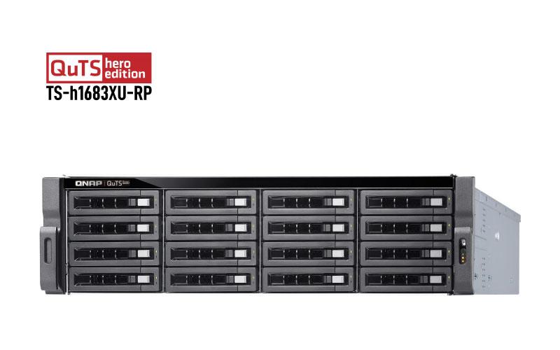 Qnap TS-h1683XU-RP - NAS ZFS 16 Baias HDD SATA