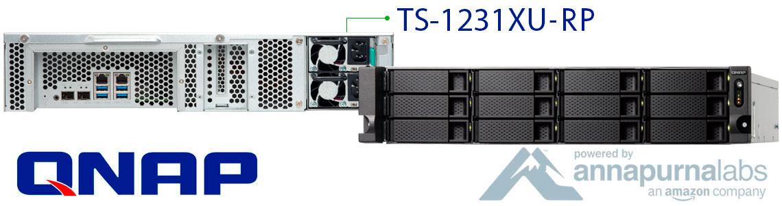 TS-1231XU-RP QNAP, storage nas 12 baias e fonte de alimentação redundante