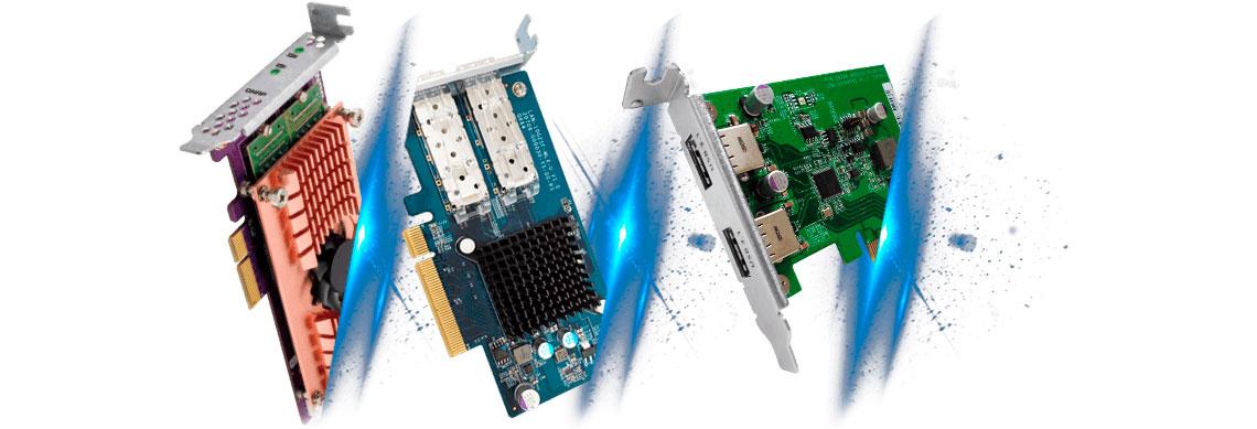 TS-1232XU-RP com slot PCIe para expansão de funcionalidades