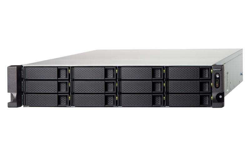 Qnap TS-1232XU - Servidor NAS Rackmount 12 baias SATA até 120TB Quad Core