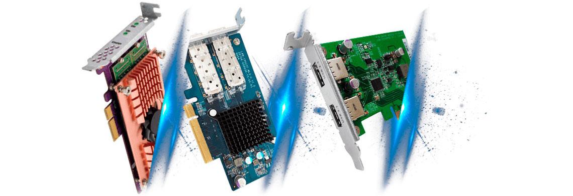 Slot PCIe para expansão de funcionalidades do TS-1232XU