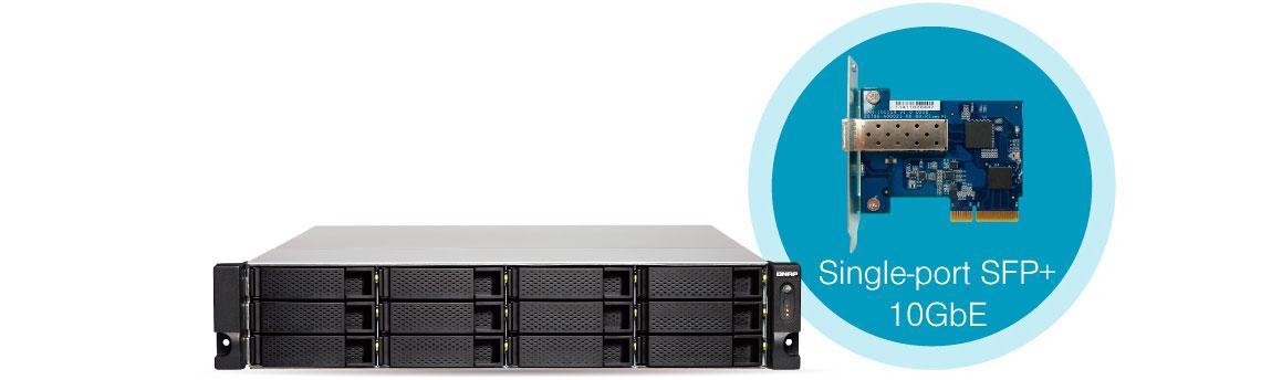 Conexão 10GbE integrada no storage rack 12 bay