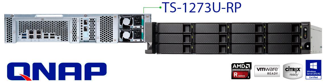 TS-1273U-RP QNAP Storage NAS Rack 12 baias