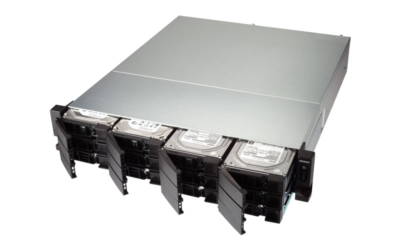 Qnap TS-1273U - Servidor NAS Rackmount 12 Baias SATA Hot-Swappable