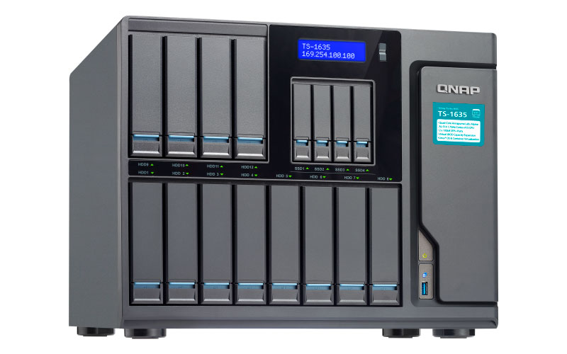 TS-1635 Qnap - NAS Storage 16 baias p/ Backup Corporativo