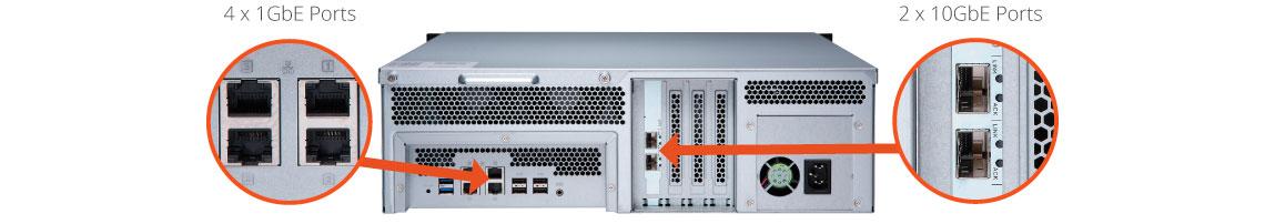 TS-1673U com funcionamento 24/7 e configuração de RAID