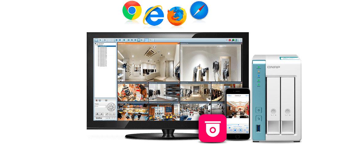 Um sistema profissional de monitoramento de vídeo doméstico