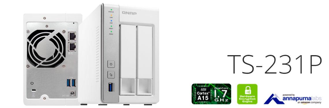 TS-231P, storage NAS 2 baias para uso doméstico e pequenos escritórios