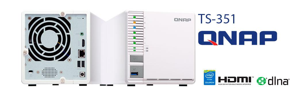 Qnap TS-351, NAS 42TB com RAID 5, armazenamento em camadas e cache SSD