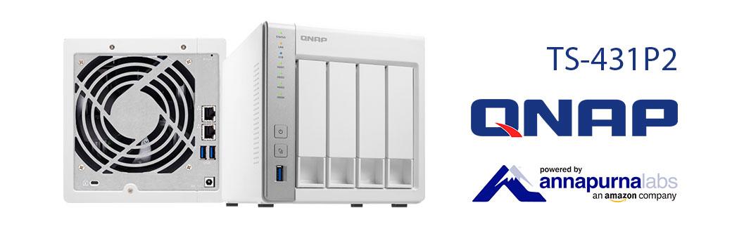 TS-431P2 Qnap, NAS 48TB ideal para backup, central multimídia e vigilância